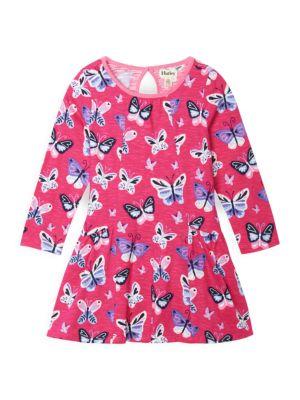 Little Girl's & Girl's Butterfly Menagerie Flounce Dress