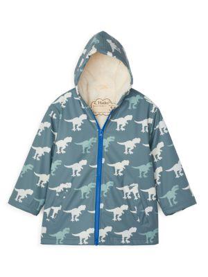 Little Boy's & Boy's T-Rex Sherpa Coat
