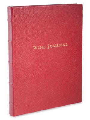 Tabbed Leather Wine Journal
