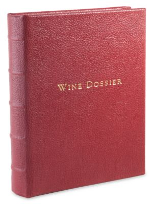 Tabbed Leather Wine Dossier