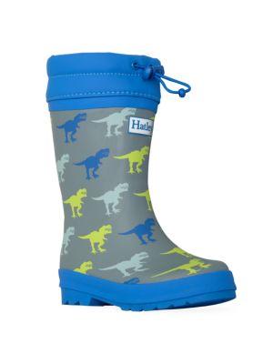 Baby's, Little Boy's & Boy's T-Rex Sherpa Lined Rain Boots