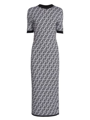 Logo Knit Midi Dress