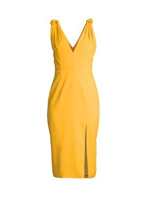 Violet Slit Sheath Dress