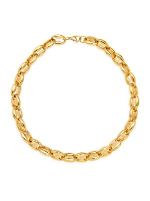 Toscano Goldplated Chain Choker Necklace