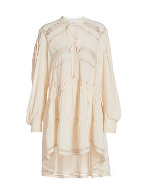 Pluton Long-Sleeve High-Low Tunic Dress