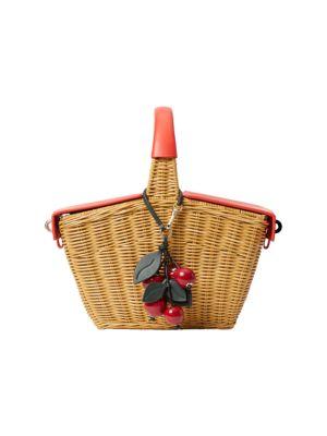 Picnic Cherries 3D Wicker Picnic Basket