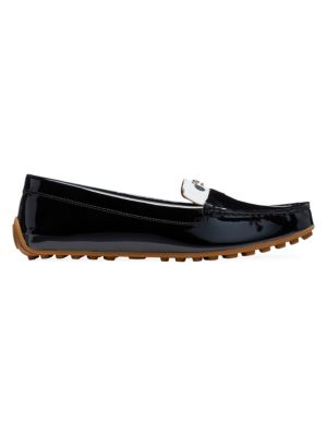 Deck Polka Dot Patent Leather Loafers