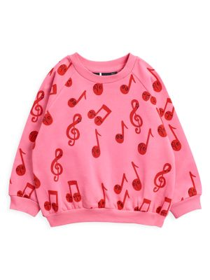 Little Girl's & Girl's Music Note Sweatshirt
