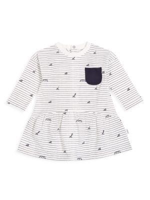 Baby Girl's Academy Stripe Long-Sleeve A-Line Dress