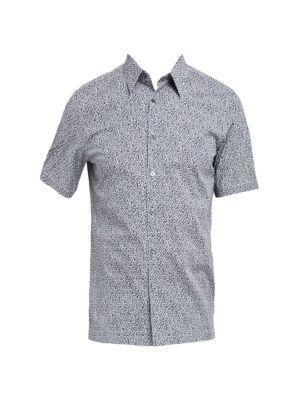 Irving Standard-Fit Cast Print Sport Shirt