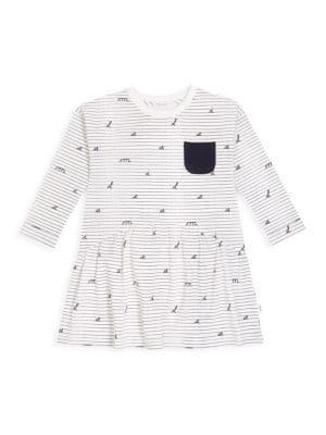 Little Girl's & Girl's Academy Stripe Long-Sleeve A-Line Dress