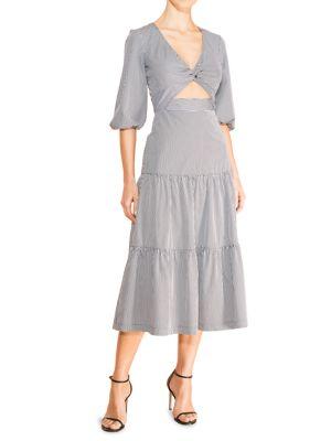 Marzia Cutout Tiered Midi Dress