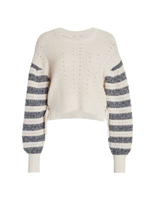 Savi Tie-Detail Crewneck Sweater