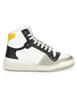 SL24 High-Top Perforated Leather Sneakers
