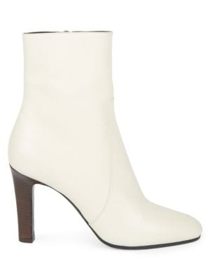 Blu Leather Ankle Boots