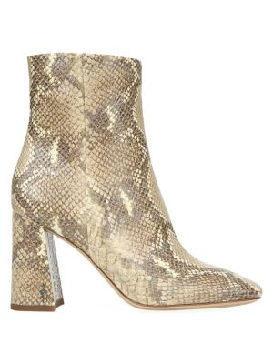 Codie Snakeskin-Embossed Ankle Boots