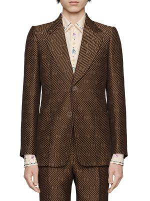 GG Diagonal Cotton Silk Jacket