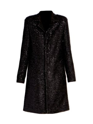 Paillette Metallic Coat