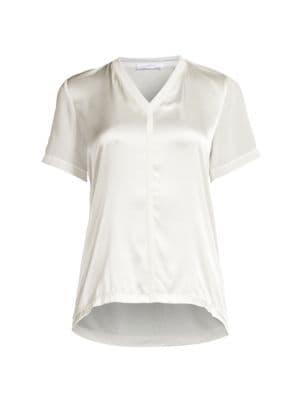 Efrona Stretch Silk-Blend Top