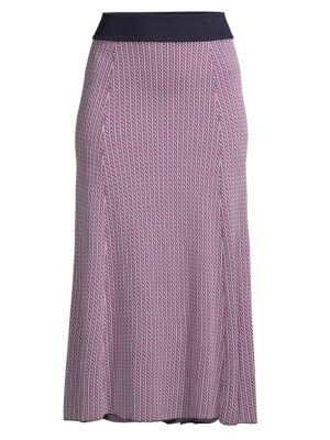Fiabella Geometric Jacquard Knit Skirt