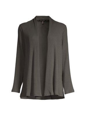 Textured Open-Front Jacket