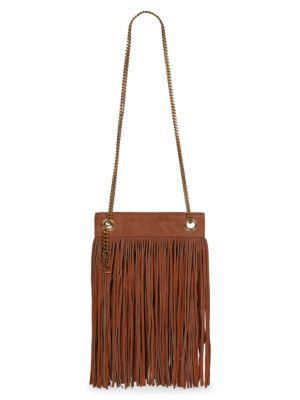 Small Grace Fringe Leather Shoulder Bag