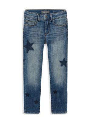 Little Girl's Chloe Star-Patch Skinny Jeans