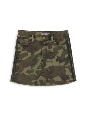 Girl's Jenny Camo Denim Skirt