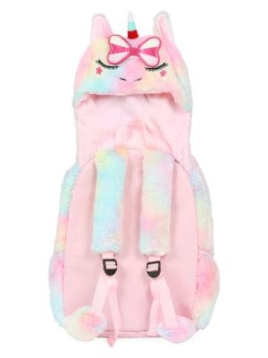 Letty Unicorn Hooded Plush Backpack