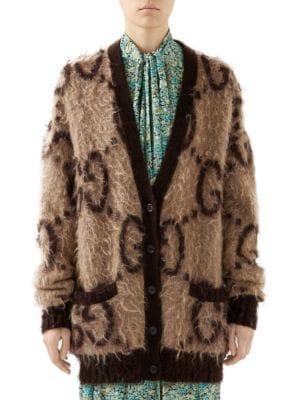 Reversible GG Wool Blend Cardigan