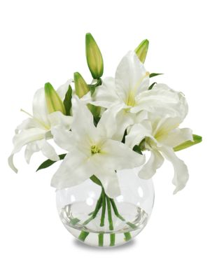 Everyday Floral Imitation Casablanca Lily In Glass Vase