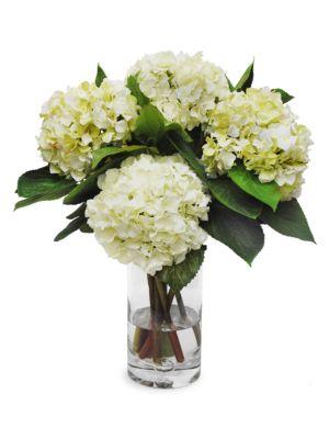 Everyday Floral Imitation Hydrangea In Glass Vase