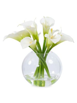 Everyday Floral Imitation Calla Lily In Glass Vase