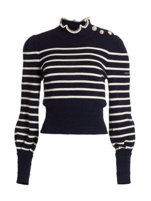 The Breton Ruffled Stripe Sweater