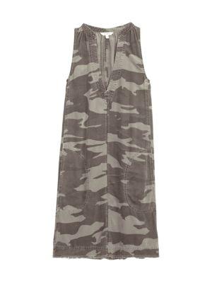 Gemma Sleeveless Camo Dress