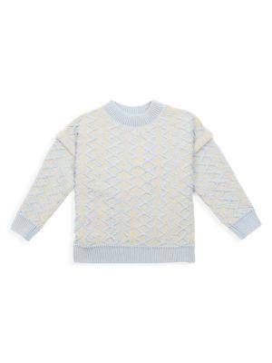 Little Girl's & Girl's Braid Knit Sweater