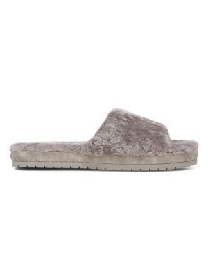 Kalina Shearling-Lined Suede Slippers
