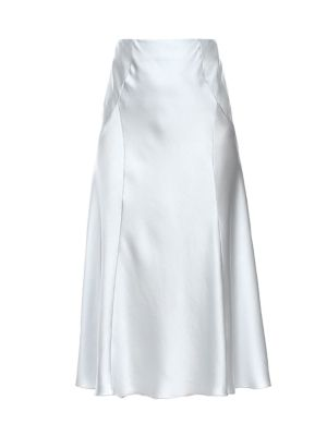 Stretch-Silk A-Line Skirt