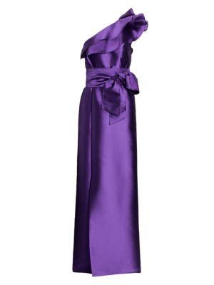 Mikado Asymmetrical Gown