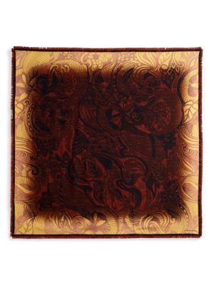 Floris Print Silk Scarf