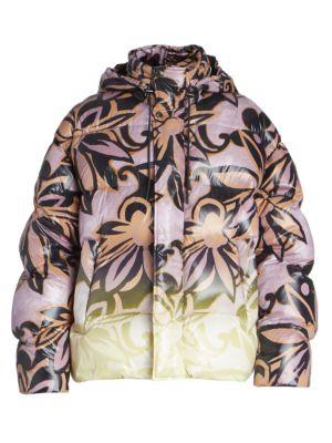 Voley Graphic Print Puffer Jacket