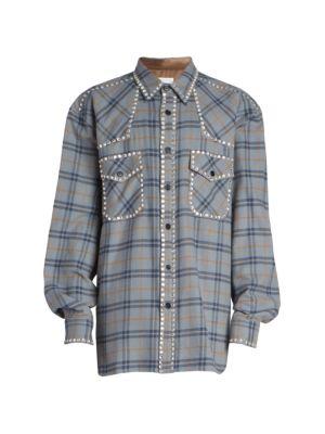 Carwick Embellished Plaid Shirt