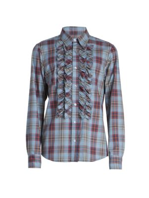 Cavile Puff Checkered Button-Front Shirt