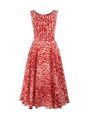 April Sleeveless Leopard-Print Dress