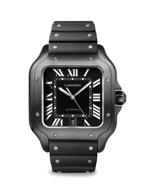 Santos de Cartier Large Stainless Steel Two-Strap Chronograph Watch