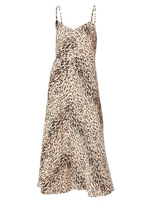 Janeil Leopard Slip Dress