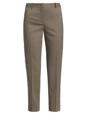 Brilliant-Trim Stretch-Wool Slim Cropped Pants