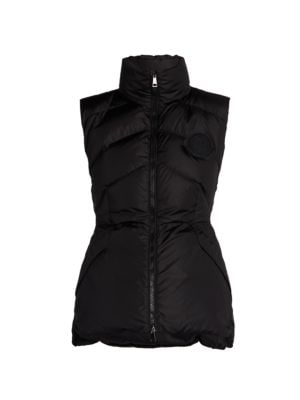 Ana Chevron Quilted Down Vest