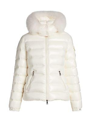 Bady Fox Fur-Trim Hood Quilted Down Jacket