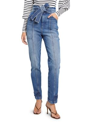 Luke Tie-Waist Straight Leg Jeans